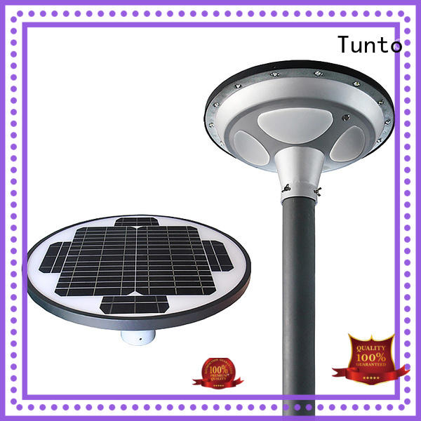 material aluminum panel round Tunto Brand bright solar garden lights supplier