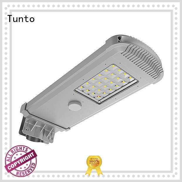 Tunto integrated solar street light supplier for parking lot