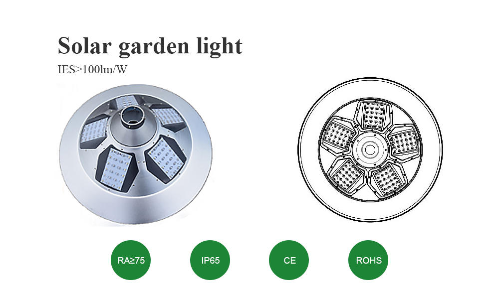 30W Solar Plaza light with sensor |high quality aluminum material –T2-J30-1