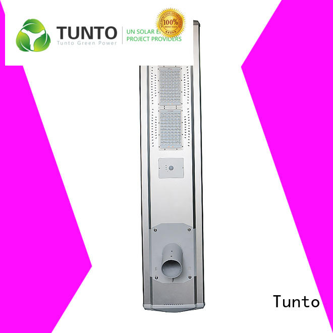 Tunto 4000lm solar led street light factory price for plaza