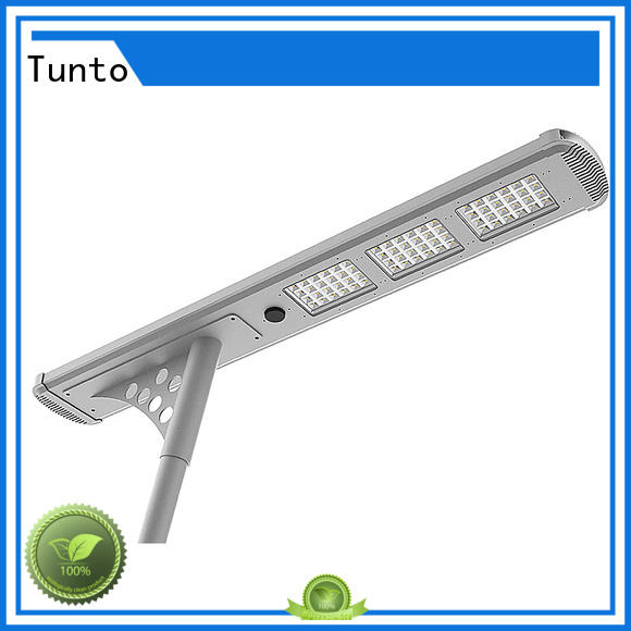 4000lm solar powered street lights supplier for plaza