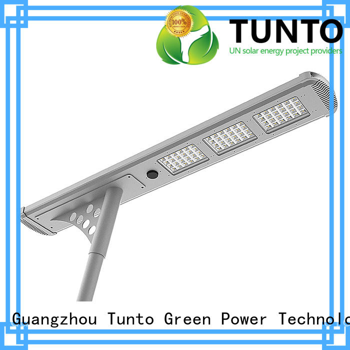 Tunto solar street light price list factory price for outdoor