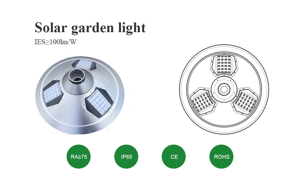 led bright solar garden lights factory for garden