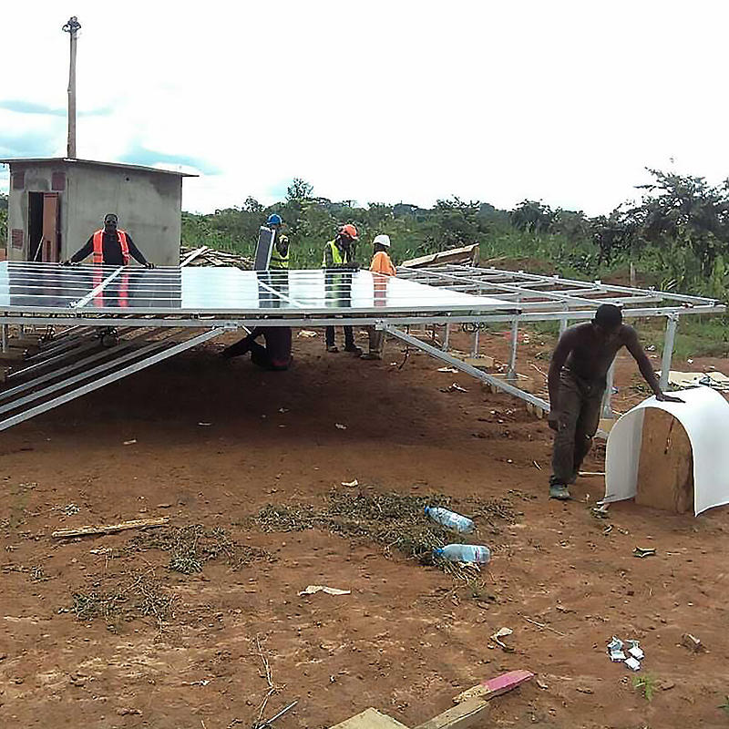 solar street light project in Cameroon