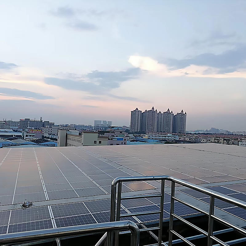 Industrial and commercial rooftop solar power generation system