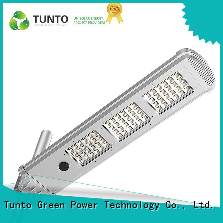 Tunto 4000lm best solar street lights for road