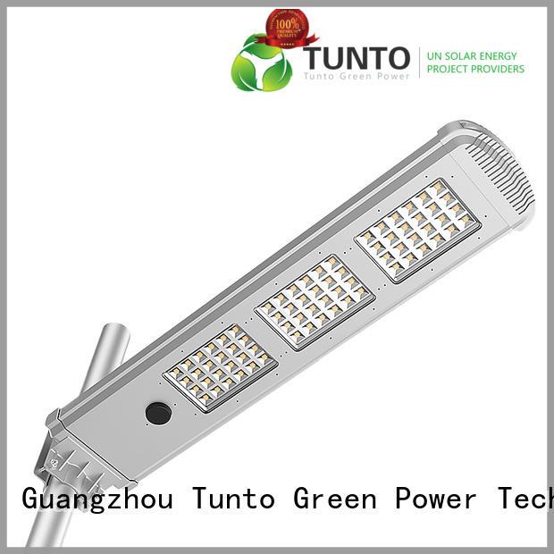 Tunto energy saving solar powered led street lights for plaza