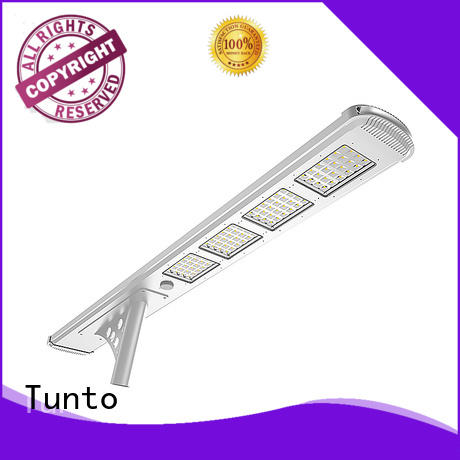 Tunto waterproof solar powered led street lights personalized for outdoor