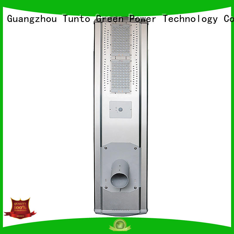Tunto 50w solar street lamp wholesale for plaza