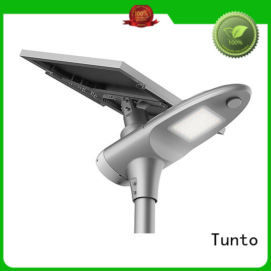 waterproof sensor solar powered street lights control Tunto company