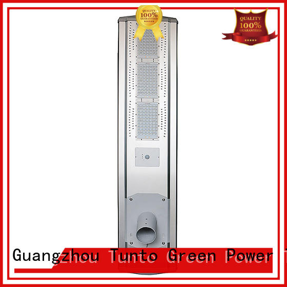 saving solar powered street lights motion led Tunto company