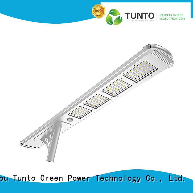 Tunto solar parking lot lights factory price for outdoor