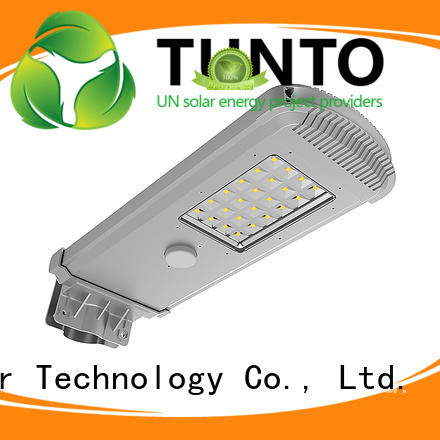 Tunto cool solar powered led street lights supplier for plaza