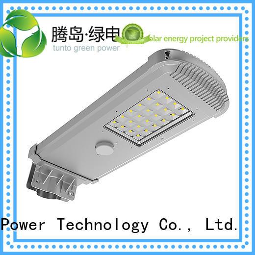 cool integrated solar led street light lot bright Tunto Brand