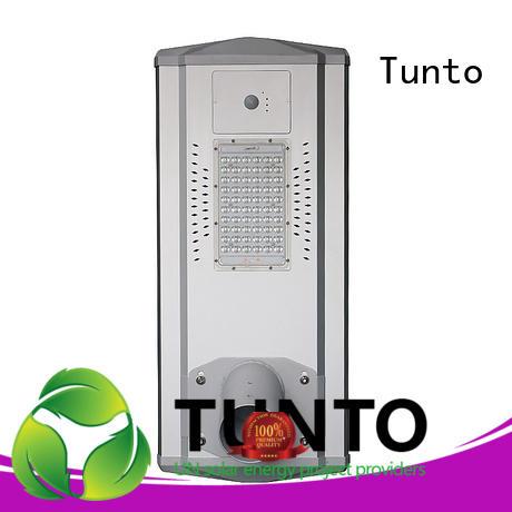 Tunto 4000lm solar street lighting system supplier for parking lot