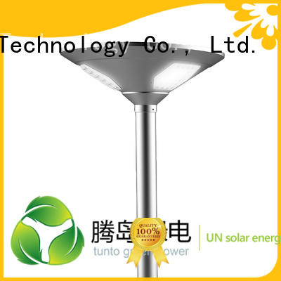 solar round outdoor solar plaza light Tunto Brand