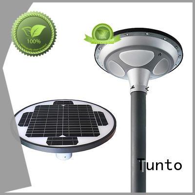 Tunto unique solar panel outside lights for plaza