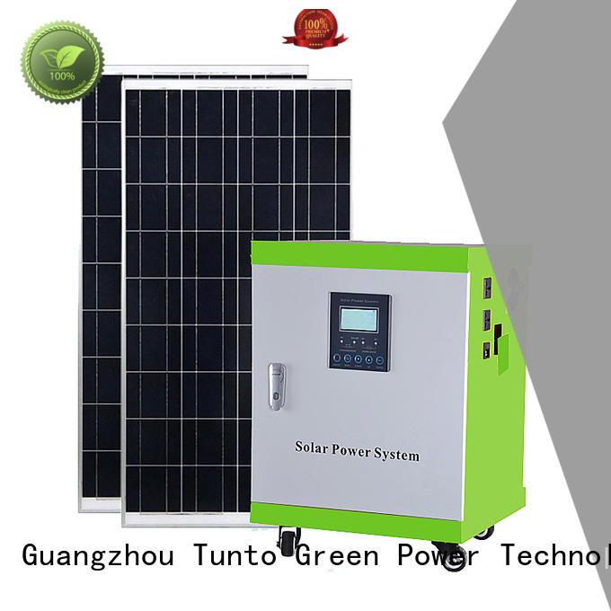 Tunto solar generator kit customized for outdoor