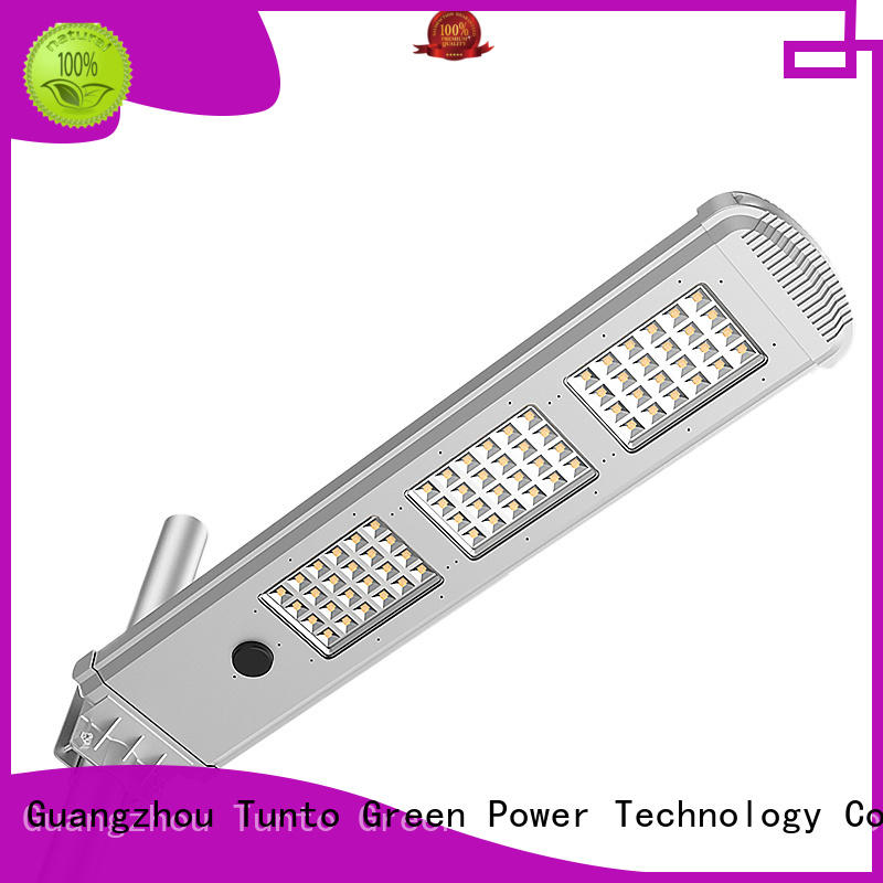 Tunto Brand one light parking solar powered street lights manufacture