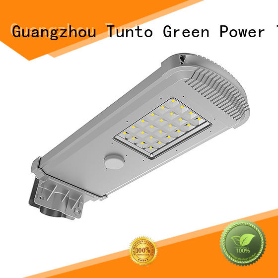 Tunto energy saving solar powered outside lights factory price for outdoor
