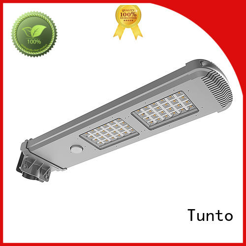 Tunto 4000lm solar panel outdoor lights factory price for road