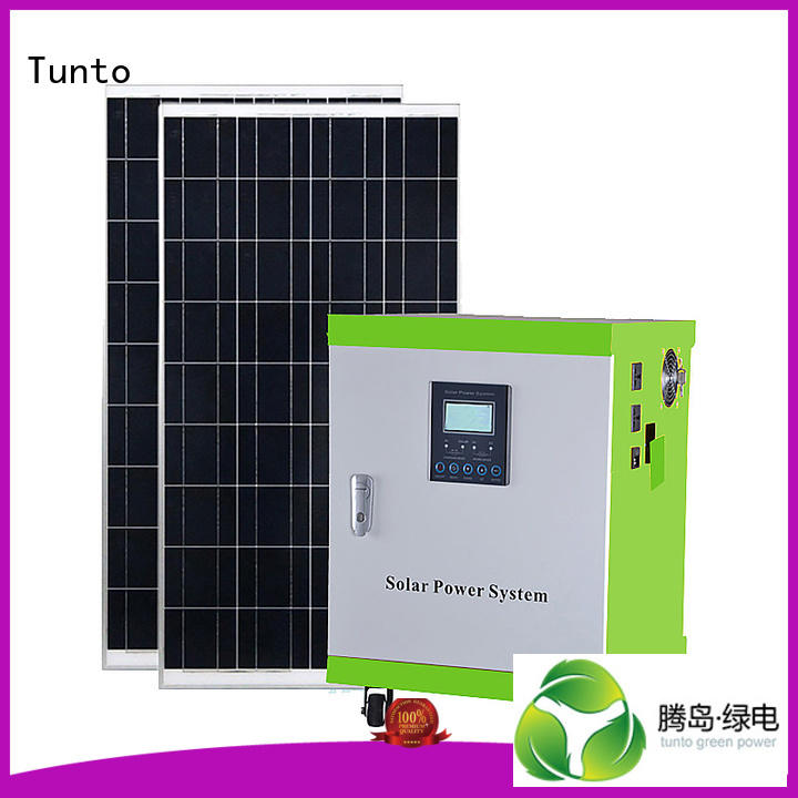 Tunto Brand potable system leadacidgel led street light solar system monocrystalline