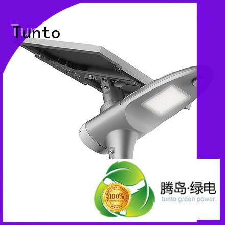 bright battery motion solar powered street lights Tunto Brand company