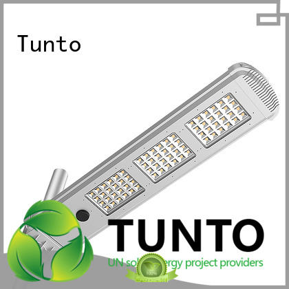 Tunto cool solar powered street lights personalized for plaza