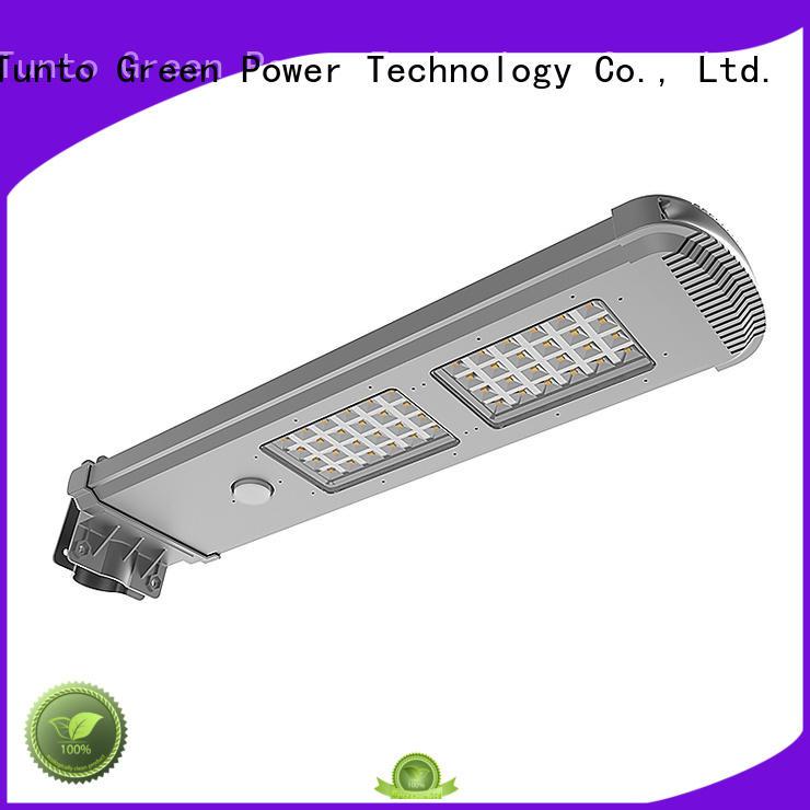 integrated solar led street light supper battery Tunto Brand solar powered street lights
