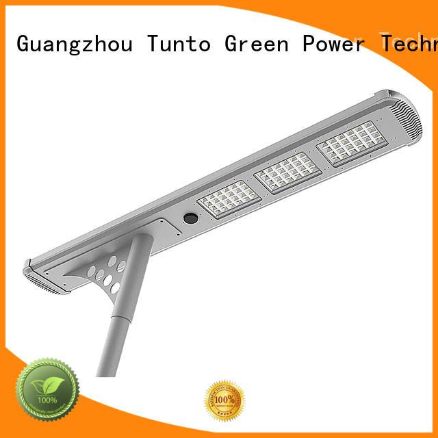 Tunto solar powered led street lights factory price for plaza
