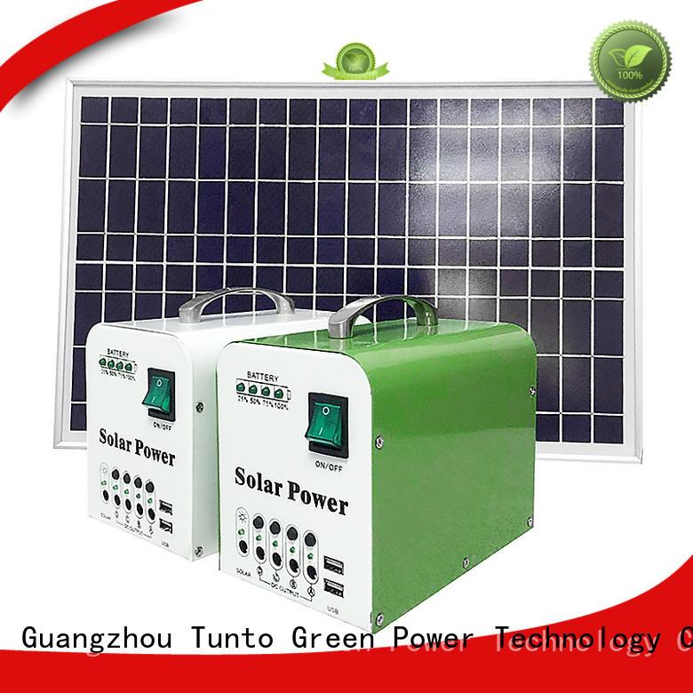 led street light solar system leadacidgel Tunto Brand polycrystalline solar panel