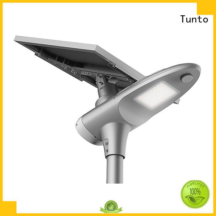 integrated solar led street light sensor saving quality Tunto Brand solar powered street lights