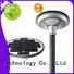 round powered Tunto Brand solar plaza light