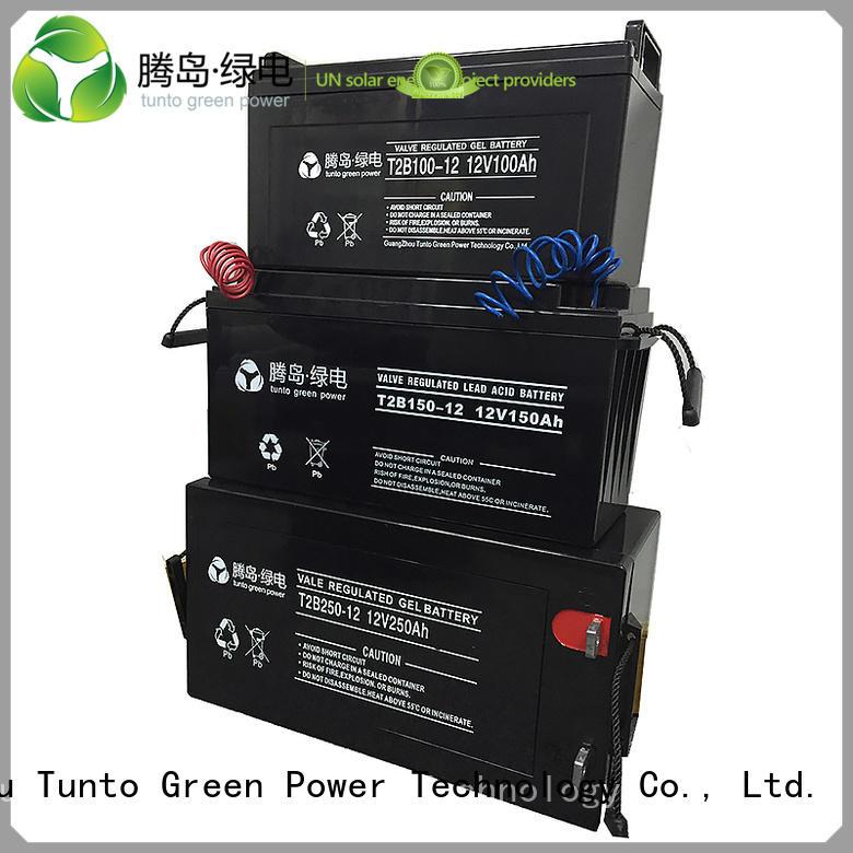 leadacidgel batteries Tunto Brand off grid solar kits with batteries factory