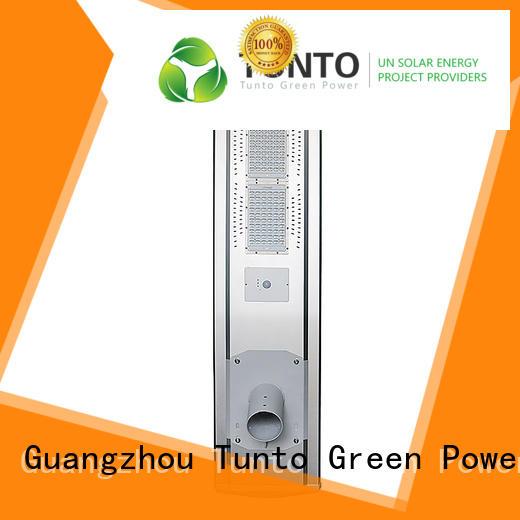 Tunto solar street lighting system factory price for plaza