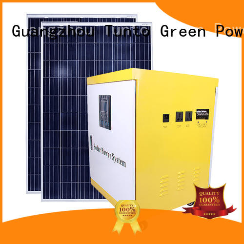 Tunto durable monocrystalline solar cell 6000w for plaza