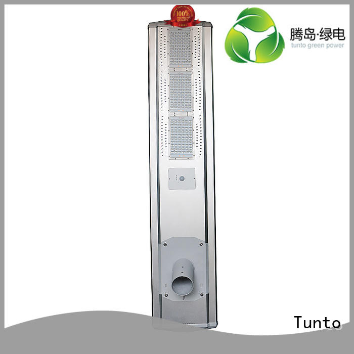 integrated solar led street light parking lights Bulk Buy motion Tunto