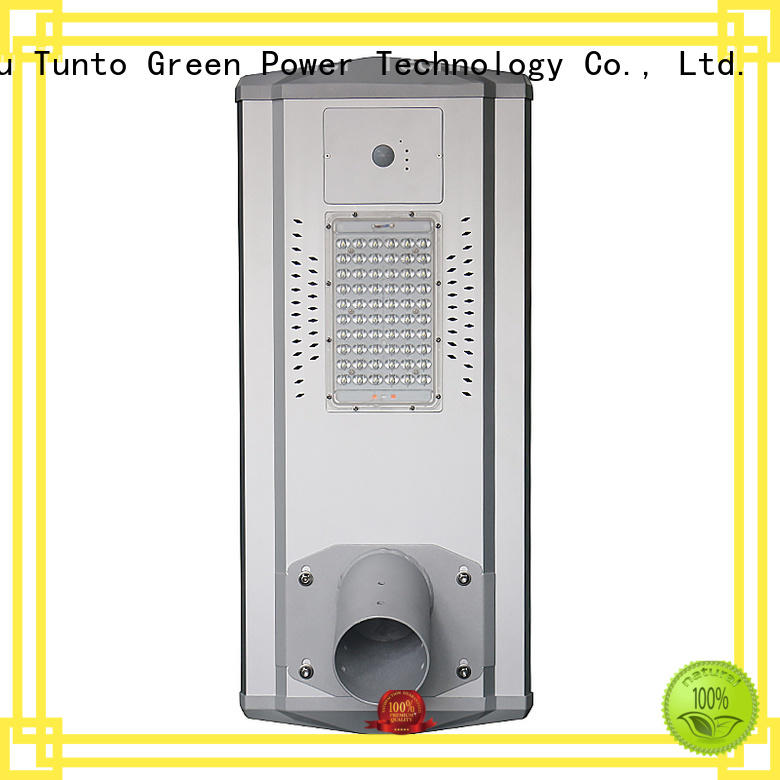 Tunto quality solar street light manufacturer wholesale for plaza