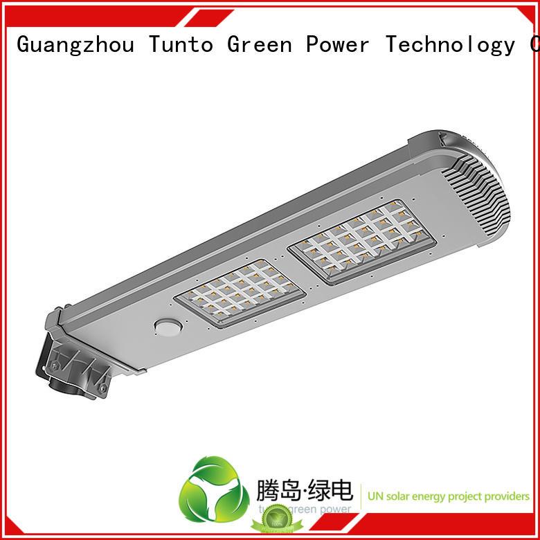 Hot lot solar powered street lights lamp control Tunto Brand