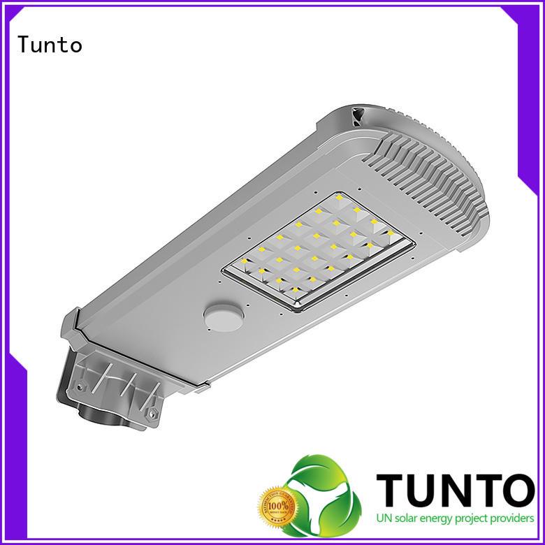 motion sensor solar energy street lights system for outdoor Tunto