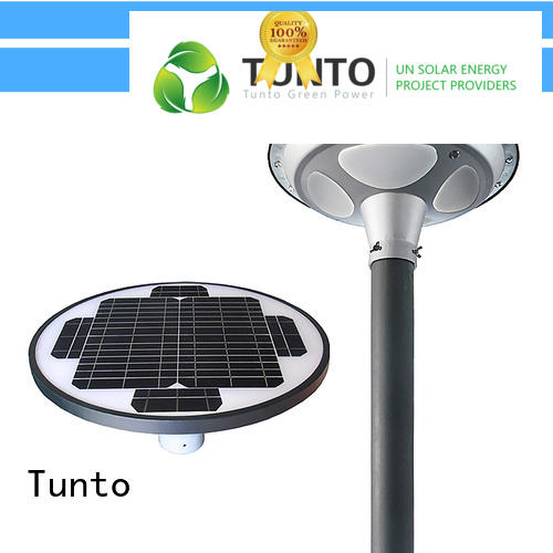 Tunto 20w outdoor solar garden lights factory for plaza