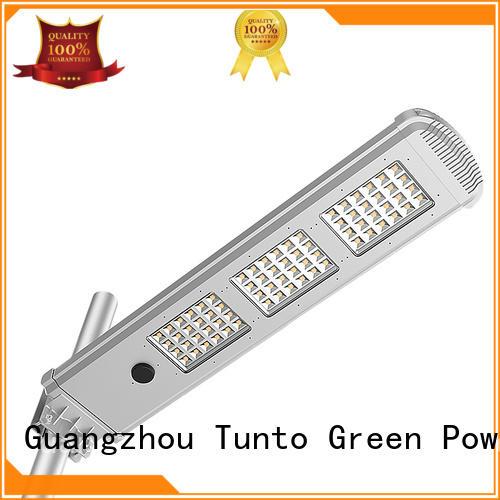 Tunto Brand parking battery light solar powered street lights