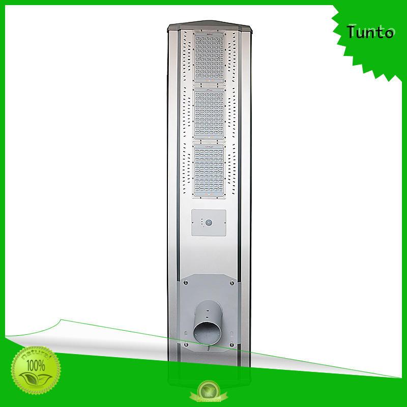 Tunto Brand saving battery sensor solar powered street lights