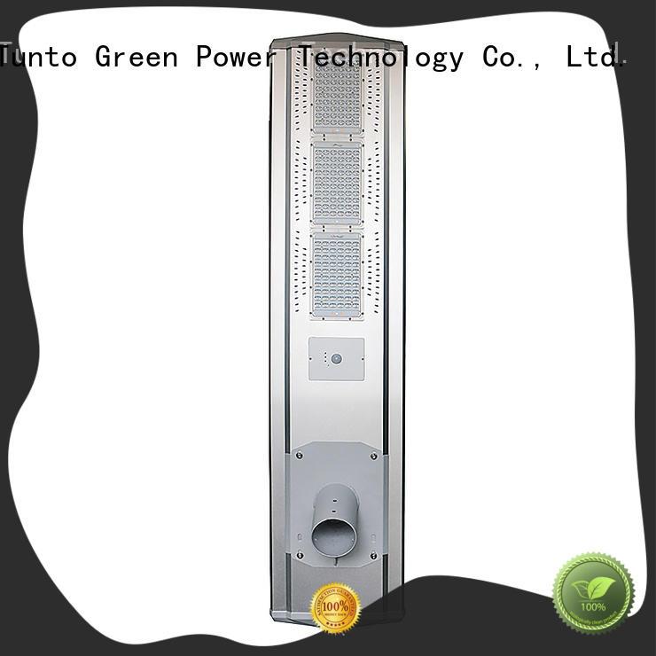 Tunto warm solar parking lot lights factory price for plaza