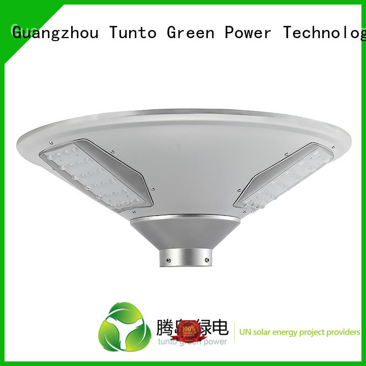 Tunto Brand round outdoor custom solar plaza light