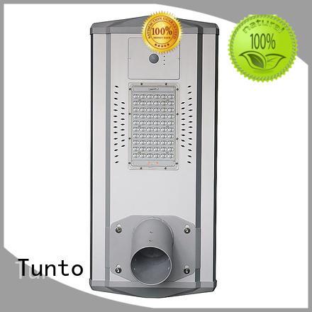 Tunto waterproof solar panel street lights wholesale for plaza