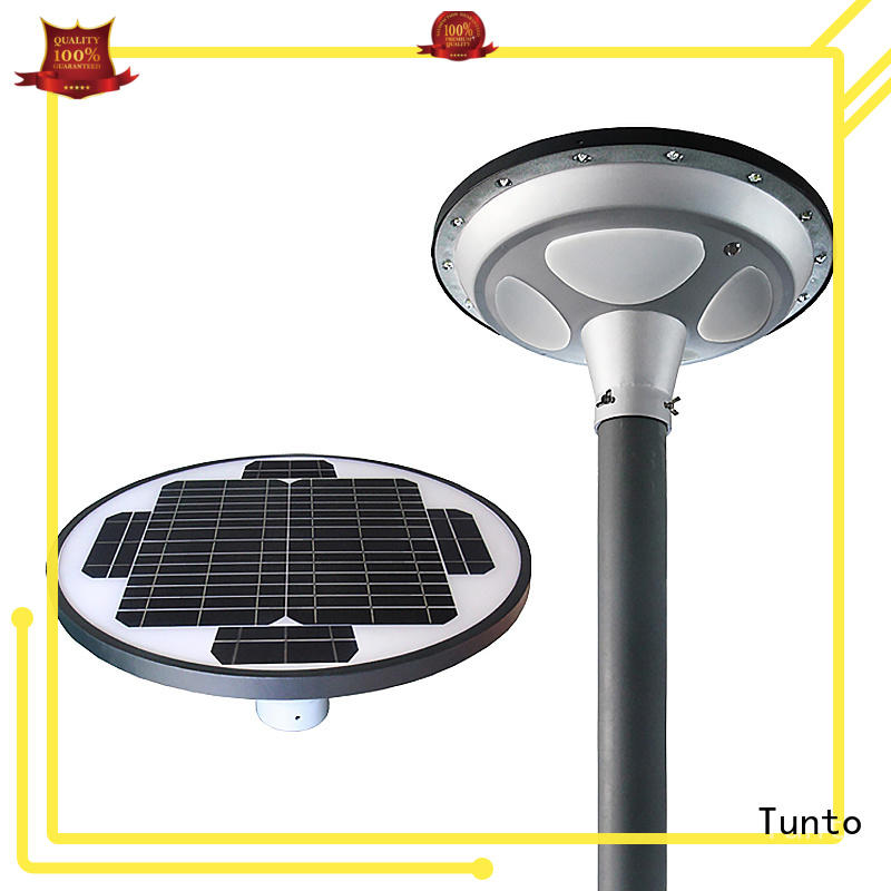 Tunto solar panel garden lights with good price for plaza