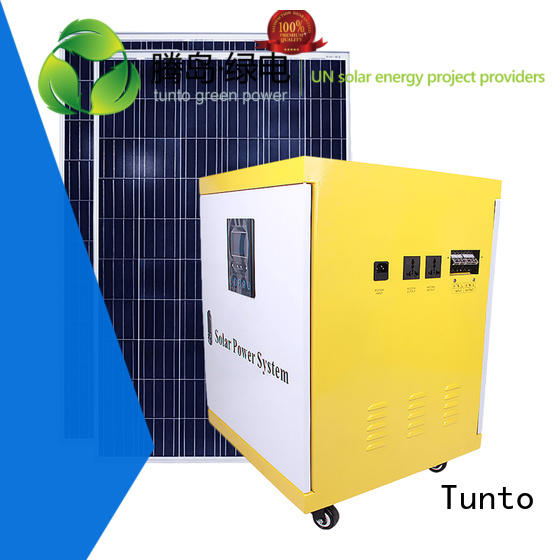 Tunto Brand potable home led street light solar system generator supplier