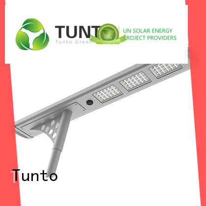 Tunto 4000lm solar parking lot lights factory price for plaza