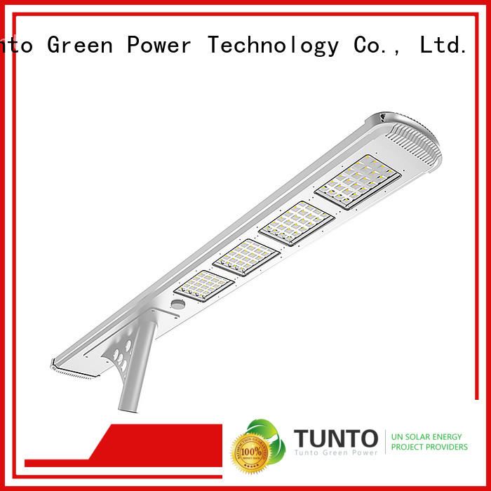 integrated solar street light 4000lm for plaza Tunto